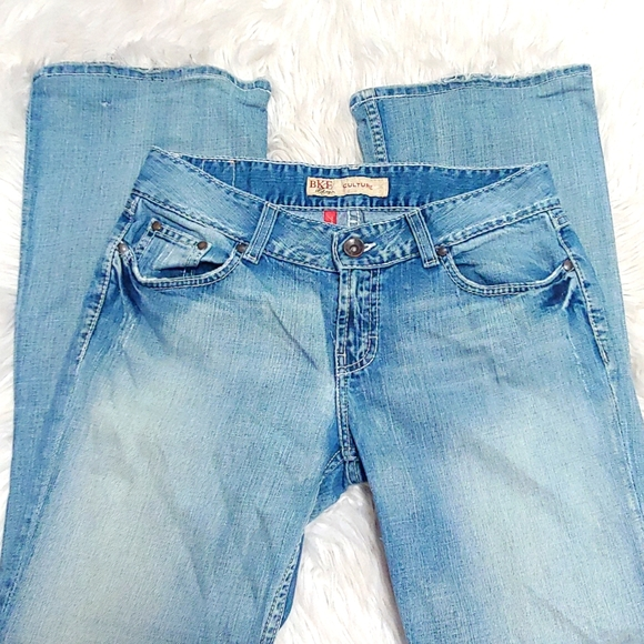 BKE Culture Stretch Boot Cut Light Wash Distressed Jeans